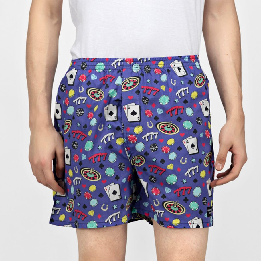 Blue-Casino-Boxers-Front View-Whats Down